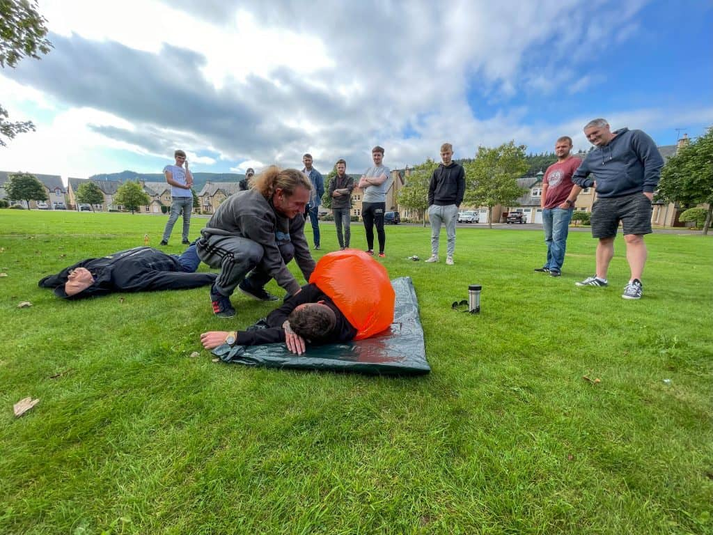 first aid with forestry training in Peebles Scotland EFAW+F