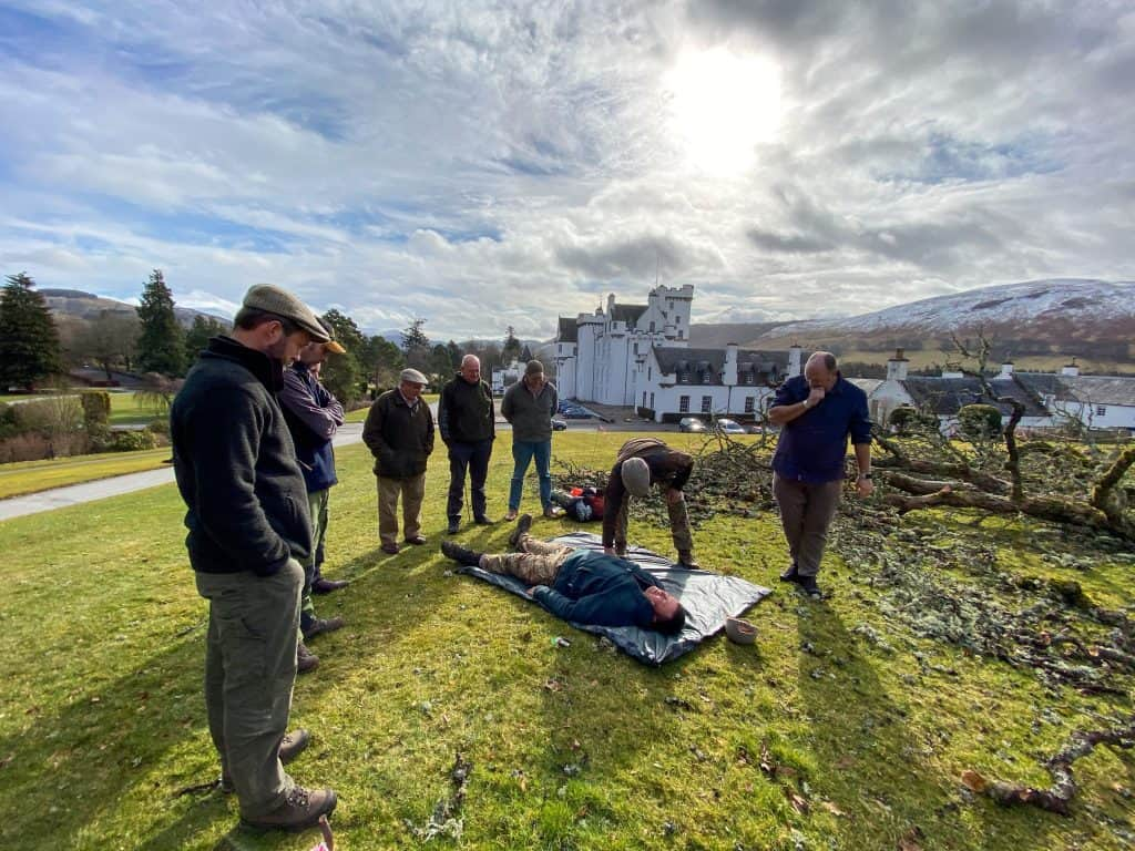 first aid training for estate workers in highland Perthshire